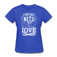 All You Need is Love - Women's - royal blue