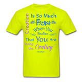 Creation is So Much Fun - Unisex - safety green