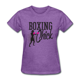 Boxing Chick - Women's - purple heather