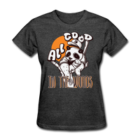 All Good in the Woods Panda - Women's - heather black