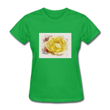 Yellow Rose Watercolor - Women's - bright green