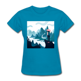 Lady in Pink Hiking - Women's - turquoise