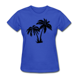 Palm Trees Silhouette - Women's Tee - royal blue