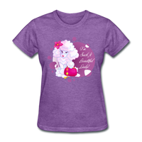Beautiful Lady Poodle - Women's - purple heather