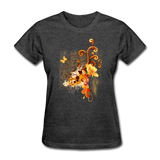 Swirls with Butterfly - Women's - heather black