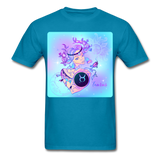 Taurus Lady on Blue - Unisex - turquoise