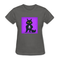 Satisfied Black Cat - Women's - charcoal