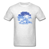 Palm Trees with Sky - Men's Tee - light heather grey