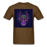 Colorful Dragon Face 2 - Unisex - brown