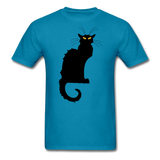 Black Cat with Yellow Eyes - Men's - turquoise