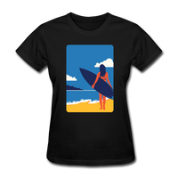 Lady with Surf Board - Women's - black