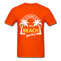 Summer Beach Holiday Design #3 - Men's Tee - orange
