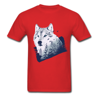 Wolf in the Forest - Men's - red