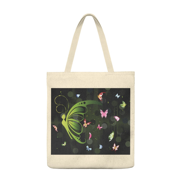 Green Butterfly Collage - Tote