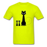 Black Cat Family - Men's - safety green