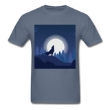 Wolf Howling at the Moon 2 - denim