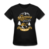 Mountains Calling Yellow - Women's - black