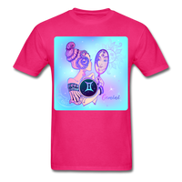 Gemini Lady on Blue - Unisex - fuchsia