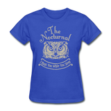 Nocturnal Owl - royal blue