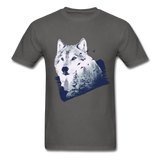 Wolf in the Forest - Men's - charcoal