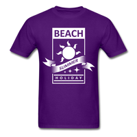 Beach Summer Holiday Design #2 - Men's Tee - purple