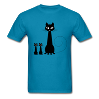 Black Cat Family - Men's - turquoise