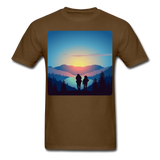 Backpackers at Sunset - Unisex - brown