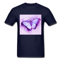 Purple and Blue Sketch Butterfly - Men's - navy