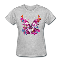 Abstract Pink Butterfly - Women's - heather gray