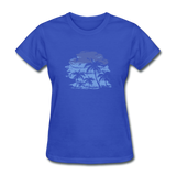 Palm Tees with Sky - Women's Tee - royal blue