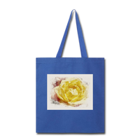 Yellow Rose Watercolor - Tote - royal blue