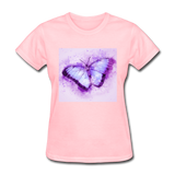 Purple and Blue Sketch Butterfly - Women's - pink