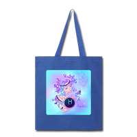 Taurus Lady on Blue - Tote - royal blue