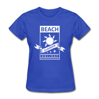 Beach Summer Holiday Design #2 - Women's Tee - royal blue
