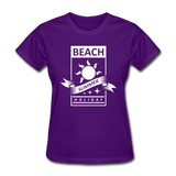 Beach Summer Holiday Design #2 - Women's Tee - purple