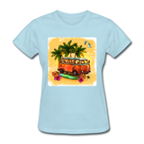 VW Bus Surfing - Women's - powder blue
