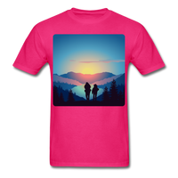 Backpackers at Sunset - Unisex - fuchsia