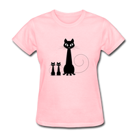 Black Cat Family - Women's - pink