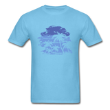 Palm Trees with Sky - Men's Tee - aquatic blue