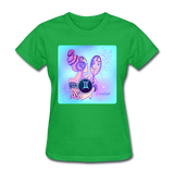 Gemini Lady on Blue - Women's - bright green