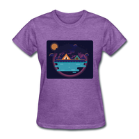 Camping on the Lake - Women's - purple heather