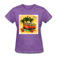 VW Bus Surfing - Women's - purple heather