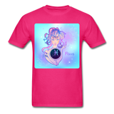 Pisces Lady on Blue - Unisex - fuchsia
