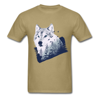 Wolf in the Forest - Men's - khaki