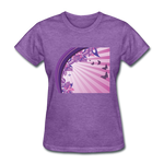 Sun Rays and Butterflies - Women's - purple heather