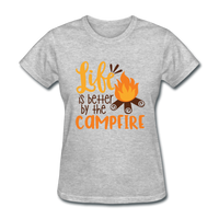 Life is Better Campfire - Women's - heather gray