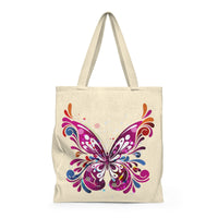 Abstract Pink Butterfly - Large Tote