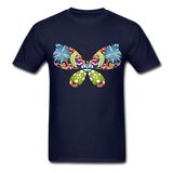 Patterned Butterfly - Men's - navy