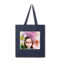 Beautiful Lady Butterfly2 - Tote - navy