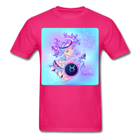 Taurus Lady on Blue - Unisex - fuchsia